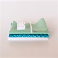 Image de Set pour robe de poupée supplémentaire - Bleu Vif - Vert Pastel