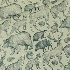 Picture of Forest Animals - L - French Terry - Grijs Aqua