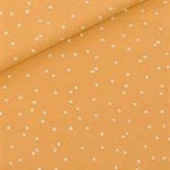 Afbeelding van Snow Dots - M - French Terry - Honinggeel