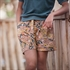 Picture of Summer Flowers - L - French Terry - Camel Brown