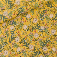 Picture of Summer Flowers - S - Viscose - Rayon - Yolk Yellow