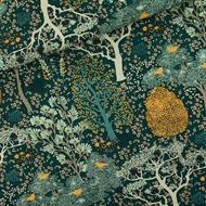 Afbeelding van Oriental Garden - M - Cotton Canvas Gabardine Twill - Gevelgroen